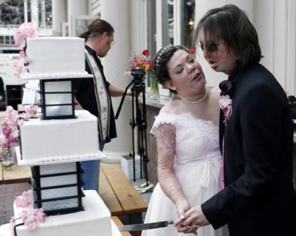 Dallas Wiens e sua noiva